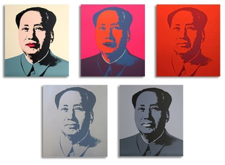 Serigrafía Warhol - Mao Silkscreen Prints (By Sunday B. Morning)