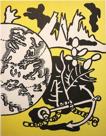 Litografía Leger - Mappemonde (1946)