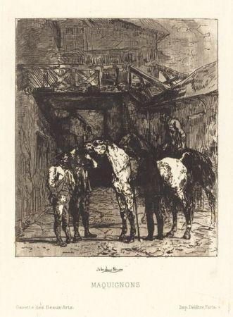 Aguafuerte Y Aguatinta Lewis-Brown - Maquignons / Horse Dealers