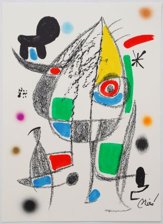 Litografía Miró - Maravillas con variaciones acrósticas en el jardín de Miró