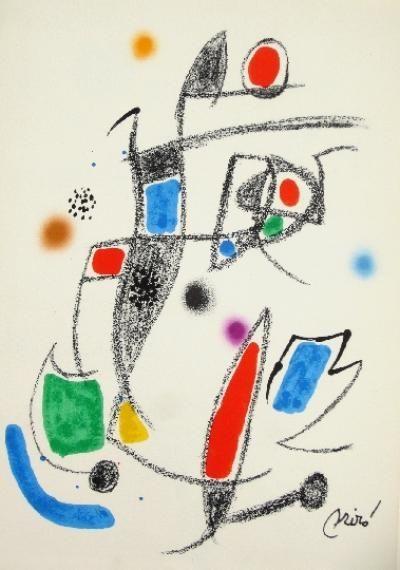 Litografía Miró - Maravillas con variaciones acrósticas en el jardín de Miró - 10