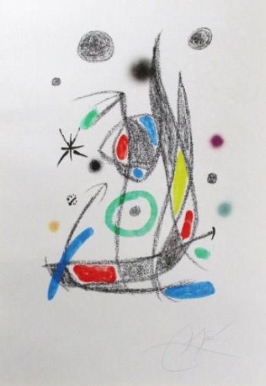 Litografía Miró - Maravillas Con Variaciones Acrósticas En El Jardín De Miró - Plate 14