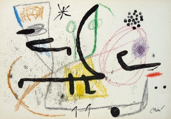 Litografía Miró - Maravillas con variaciones acrosticas 9