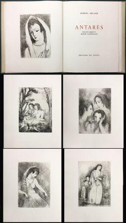 Libro Ilustrado Laurencin - Marcel Arland : ANTARES. Exemplaire avec suite (1944).