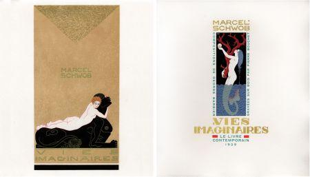 Libro Ilustrado Barbier - Marcel Schwob : VIES IMAGINAIRES. Compositions par George Barbier. Le Livre Contemporain (1929).