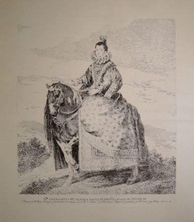 Aguafuerte Goya - Margarita de Austria Reyna de Espagna, Muger de Phelipe III