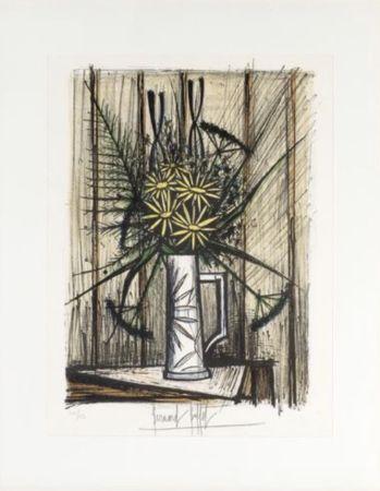 Litografía Buffet - Marguerites et Iris