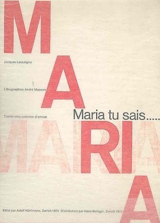 Libro Ilustrado Masson - Maria, tu sais