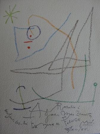 Litografía Miró - Mariage