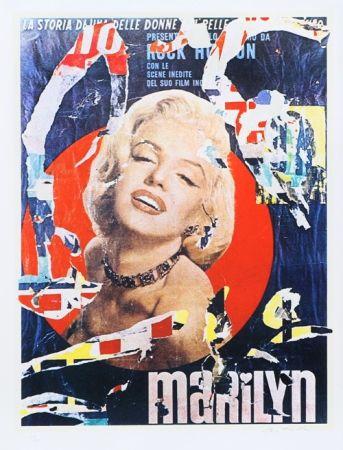 Serigrafía Rotella - Marilyn