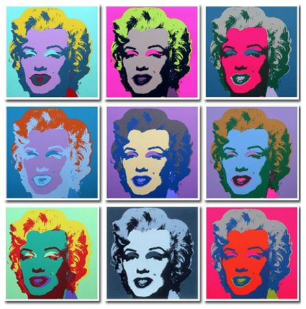 Sin Técnico Warhol - Marilyn Collection A Set Of 10 In Different Colours