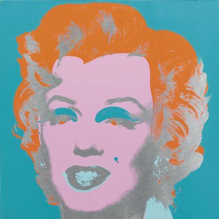 Serigrafía Warhol - Marilyn Monroe (FS II.29) (Blue/Orange)