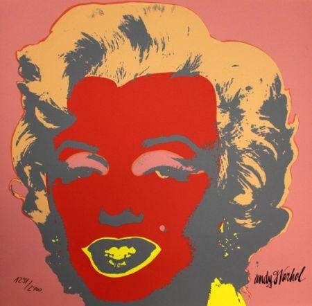 Serigrafía Warhol - Marilyn Monroe Red