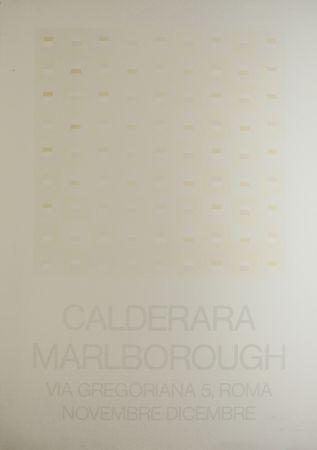 Serigrafía Calderara - Marlborough (SIGNED silkscreen exhibition poster on fine paper)
