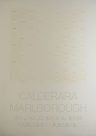Serigrafía Calderara - Marlborough (SIGNED silkscreen exhibition poster on fine paper)