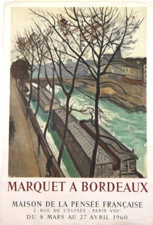 Litografía Marquet - Marquet à Bordeaux