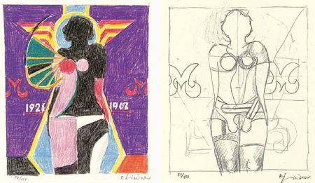 Litografía Lindner - Marylin was here - 17 handsigned prints