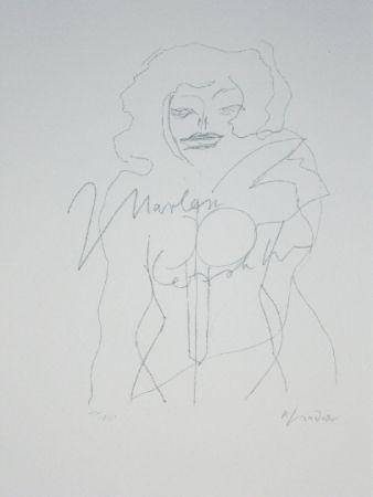 Litografía Lindner - Marylin was here 12