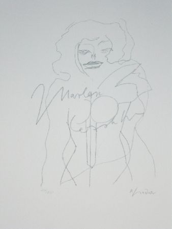 Litografía Lindner - Marylin was here 12