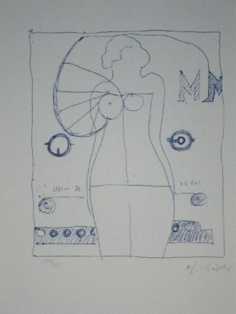 Litografía Lindner - Marylin was here 9