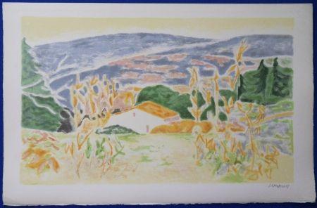 Litografía Cavailles - Mas en Provence