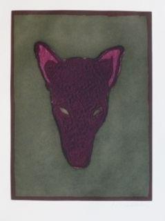 Grabado Scholder - Mask Of A Warewolf