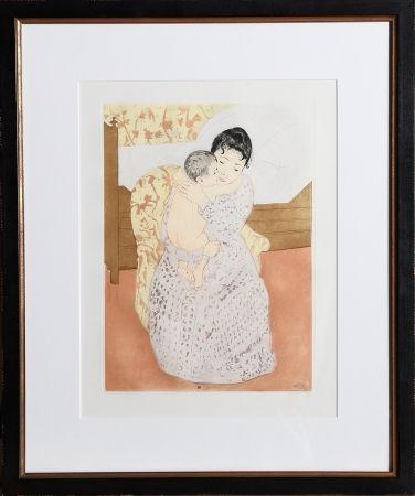 Grabado Cassatt - Maternal Caress