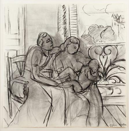 Litografía Matisse (After) - Maternidad