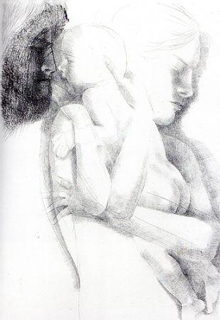 Grabado Greco - Maternità (o Maternità con apparizione)