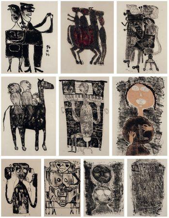 Litografía Dubuffet - MATIÈRE ET MÉMOIRE ou les lithographes à l'école.