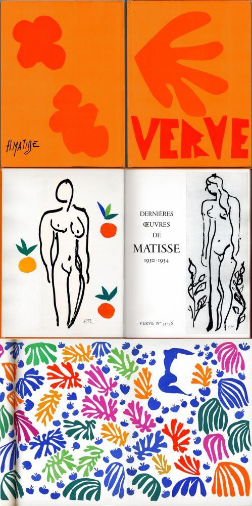 Libro Ilustrado Matisse - Matisse dernières oeuvres 1950 - 1954 (VERVE Vol. IX, No. 35-36. 1958)