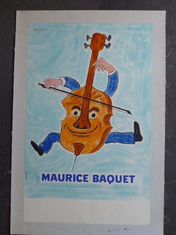Cartel Savignac - Maurice Baquet violonceliste