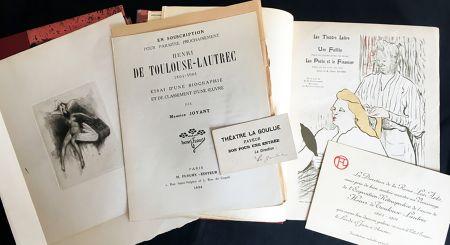 Libro Ilustrado Toulouse-Lautrec - Maurice Joyant. HENRI DE TOULOUSE-LAUTREC, 1864-1901. [Vol. 1] Peintre - [Vol. 2] Dessins-Estampes-Affiches. (Exemplaire sur Japon avec suites et pièces ajoutées)