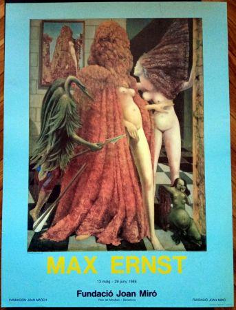 Cartel Ernst - Max Ernst Fundació Miró 1986