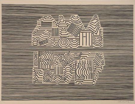 Serigrafía Vasarely - Meandre