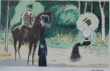 Litografía Van Dongen - Meeting in the woods