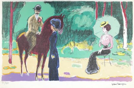 Litografía Van Dongen - Meeting in the woods