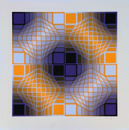 Serigrafía Vasarely - Mely