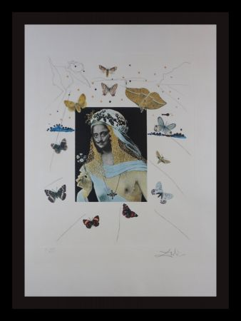 Grabado Dali - Memories of Surrealism Surrealiste Portrait of Dali Surrounded by Butterflies