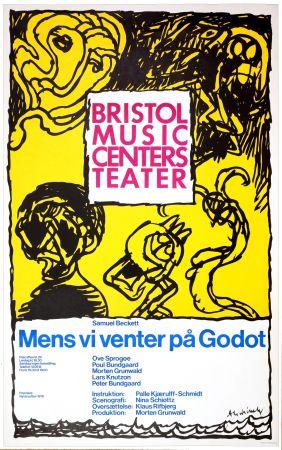 Cartel Alechinsky - Mens vi venter på Godot, 1976