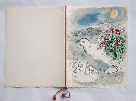 Litografía Chagall - Menu du Diner du 5 Janvier 1978