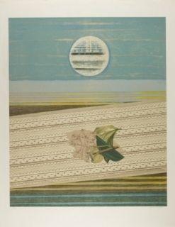 Litografía Ernst - Mer et soleil