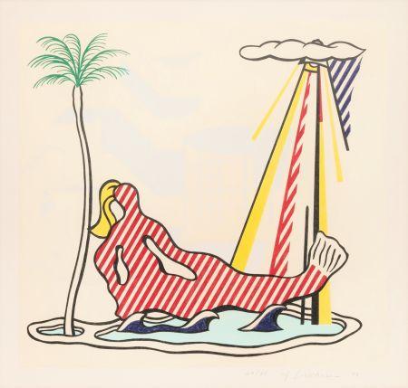 Litografía Lichtenstein - Mermaid
