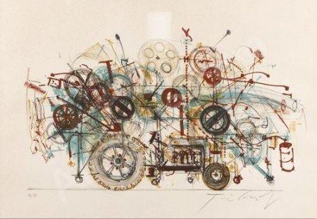 Litografía Tinguely - Meta-machine
