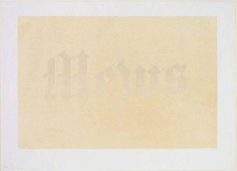 Serigrafía Ruscha - Mews