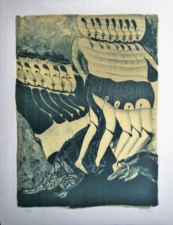 Litografía Toledo - Mexican Dancers
