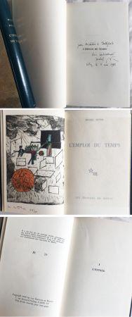 Libro Ilustrado Matta - Michel Butor. L'EMPLOI DU TEMPS (1 des 40 avec l'eau-forte rehaussée de Matta) 1956.