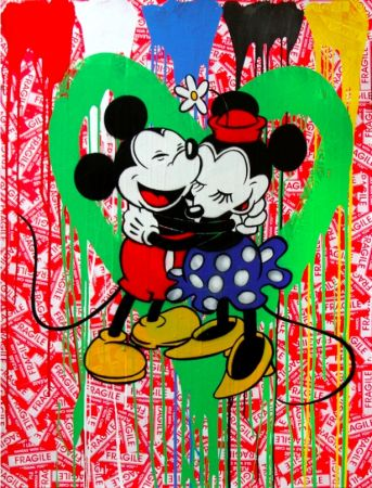 Múltiple Mr. Brainwash - Mickey & Minnie