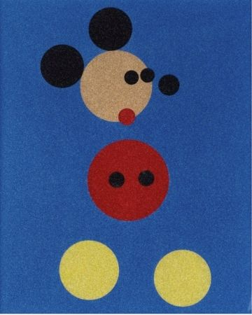 Serigrafía Hirst - Mickey Mouse Glitter Print by Damien Hirst