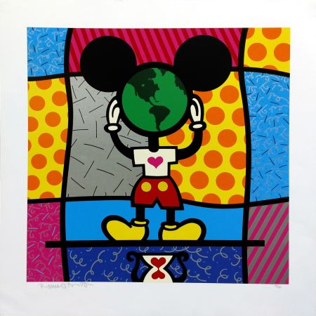 Serigrafía Britto - MICKEY'S WORLD
